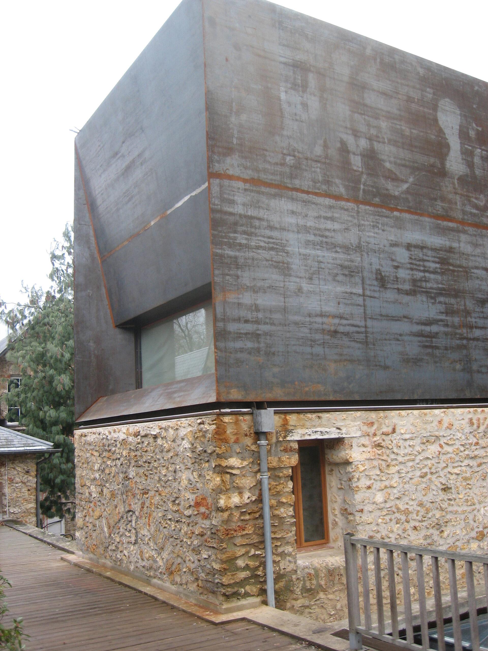 Extension maison corten